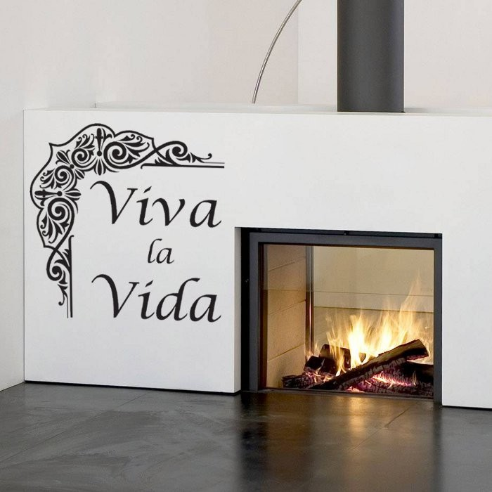 wandtattoos online bestellen wandtattoo motiv viva la vida. Black Bedroom Furniture Sets. Home Design Ideas